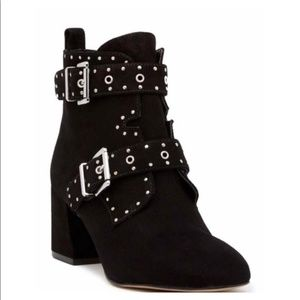 BNIB Rebecca Minkoff black studded booties moto